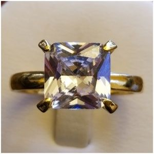Jewelry - 14k Yellow Gold Filled White Topaz Solitaire Ring